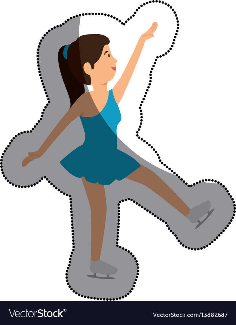 Woman athlete dancing in skate avatar character vector image