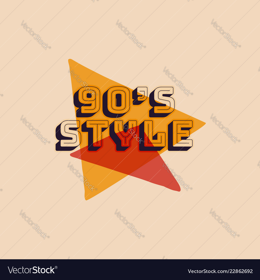 90s style label retro triangle poster vintage