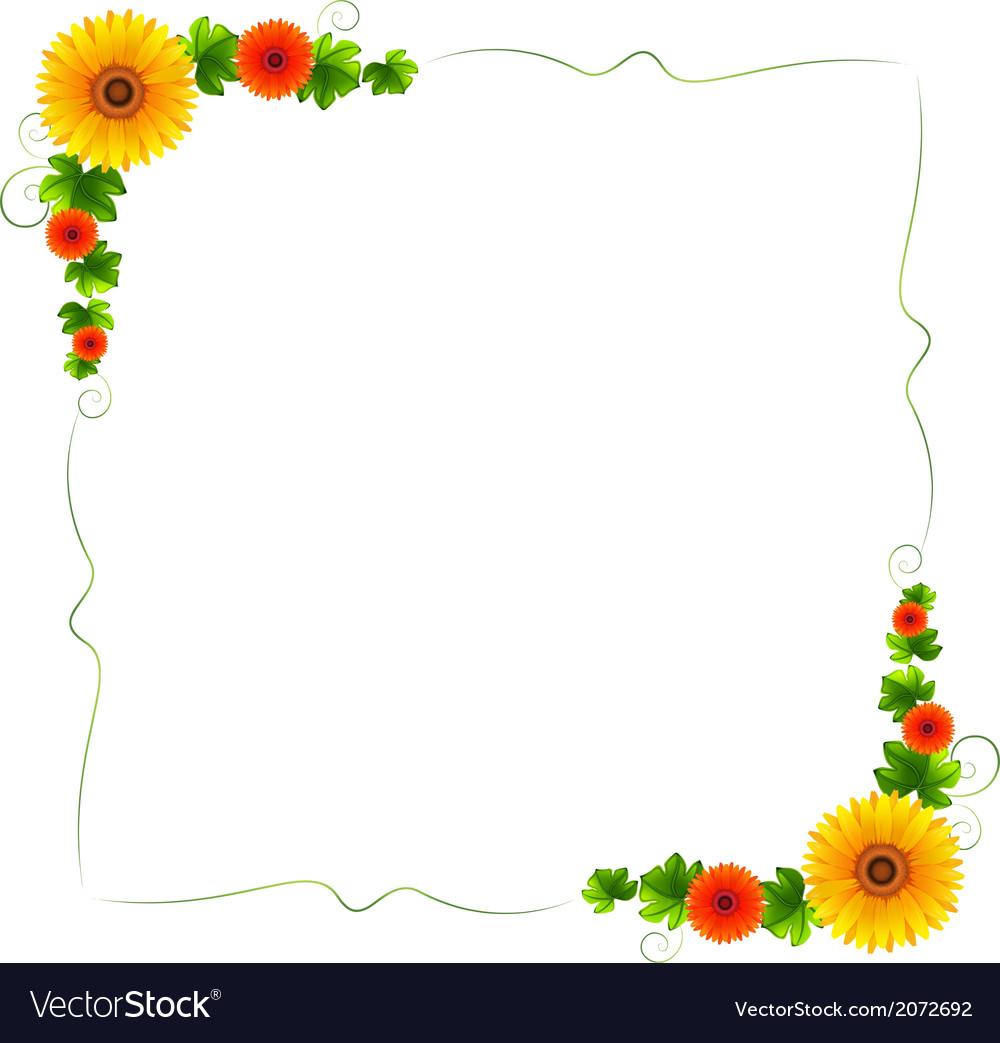 A colourful floral border