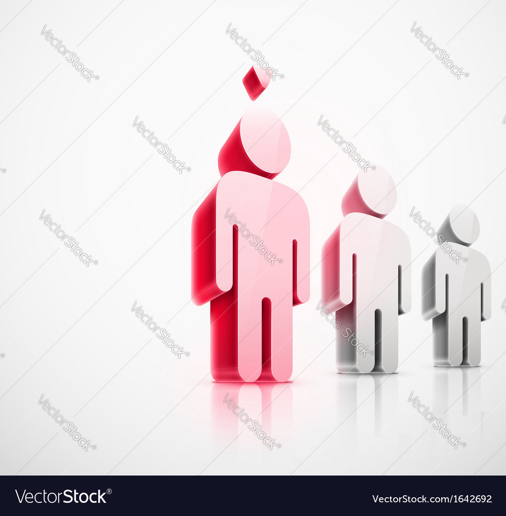 Choice of person vector image
