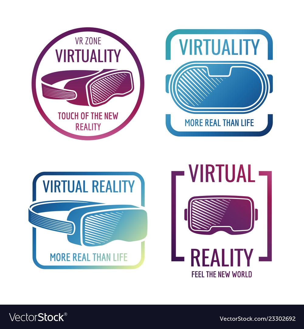 Color futuristic helmet virtual reality headset