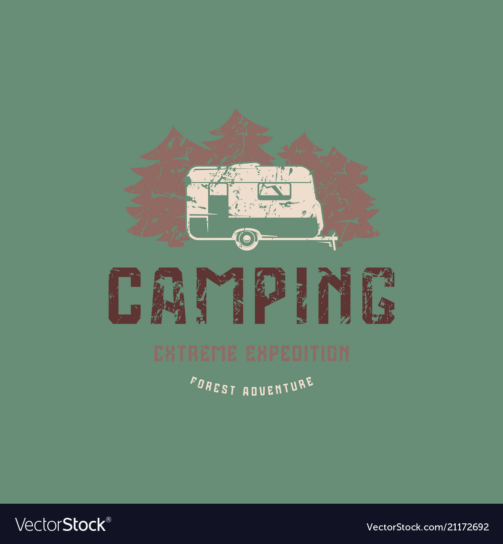 Emblem with rough texture for camping