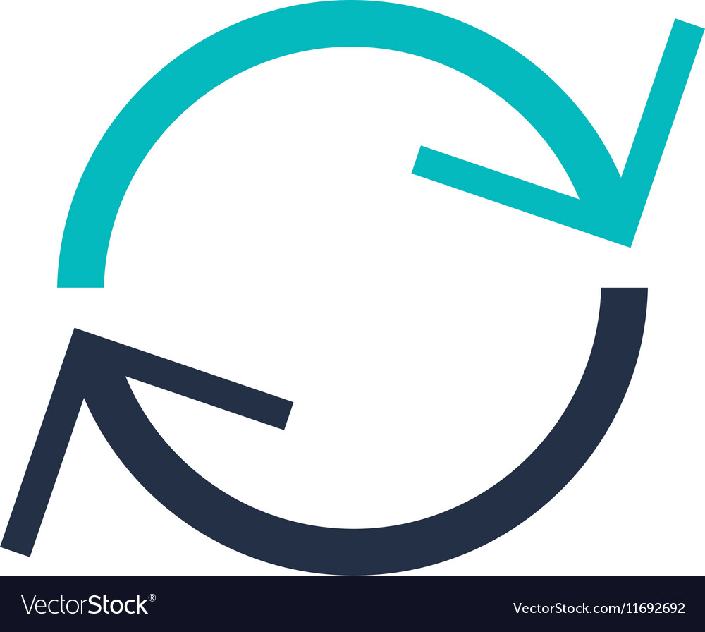 Isolated circle of arrows design vector image