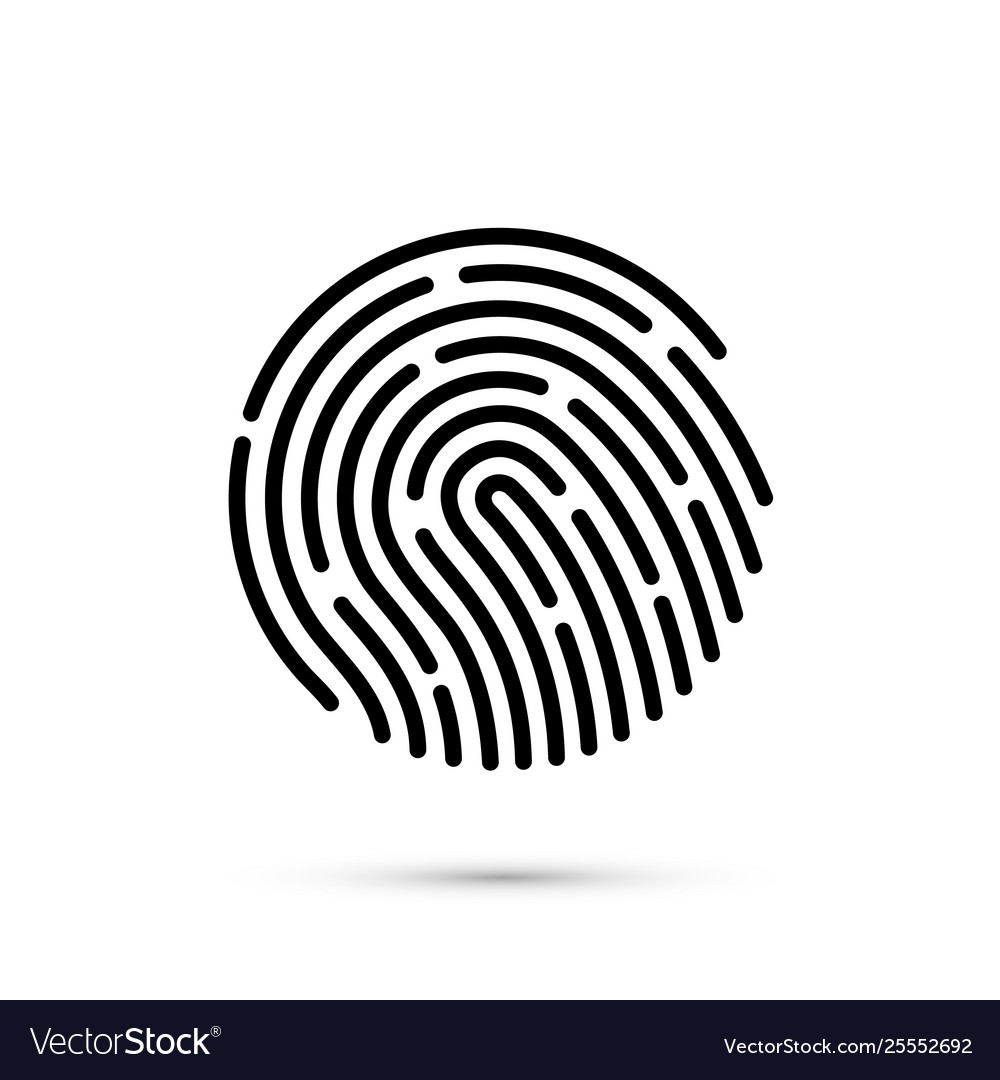 Password touch id phone on white background