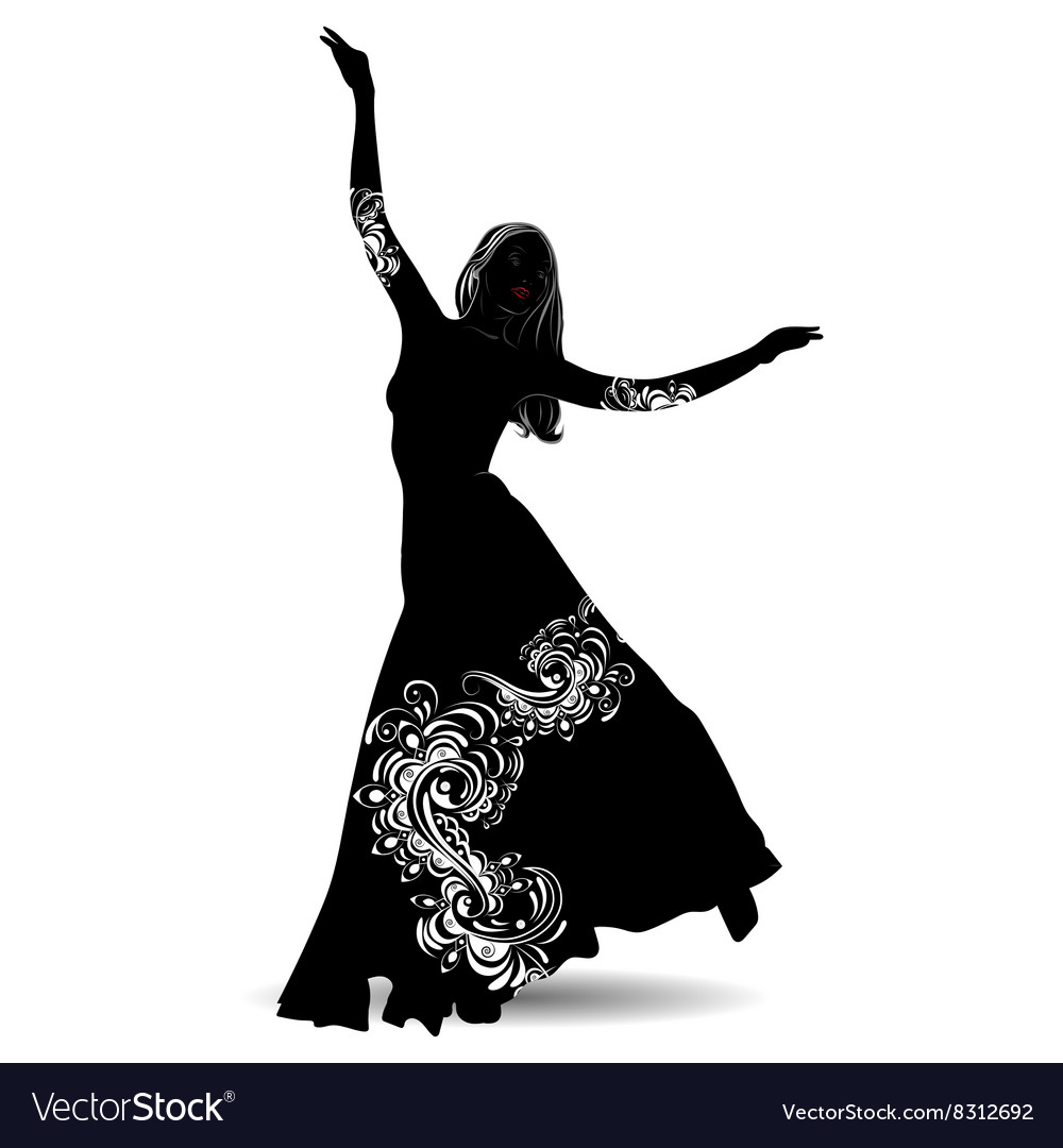 Silhouette belly dancer 2