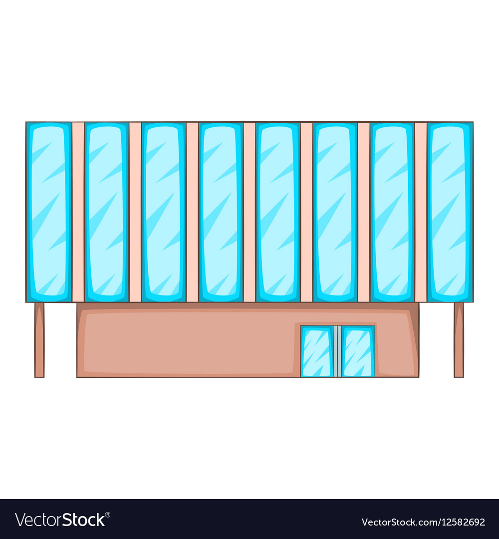 Solar battery building icon cartoon style