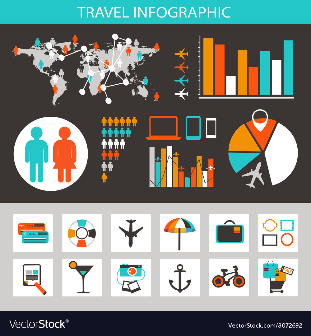 Travel infographic with icons and elements