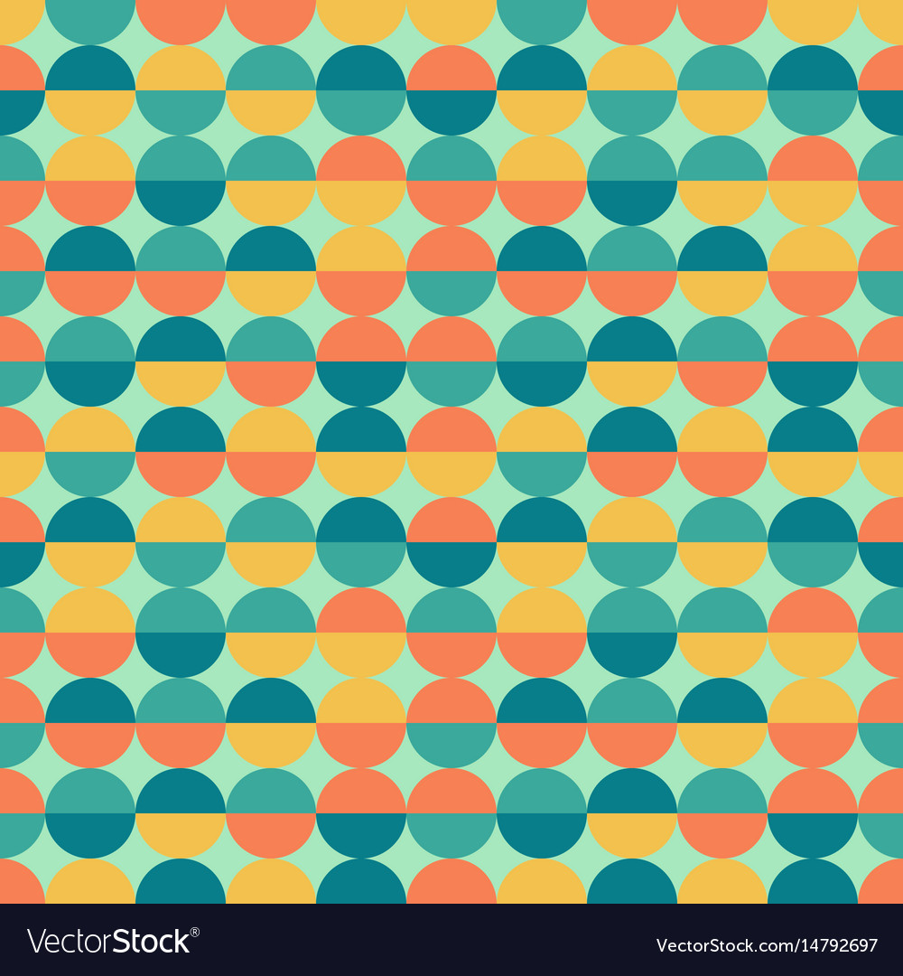 Abstract colorful half circles seamless geometric