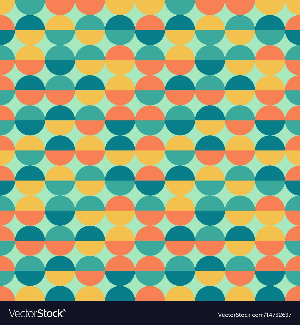 Abstract colorful half circles seamless geometric vector image
