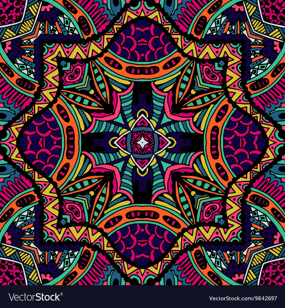 Abstract Tribal vintage ethnic pattern ornamental