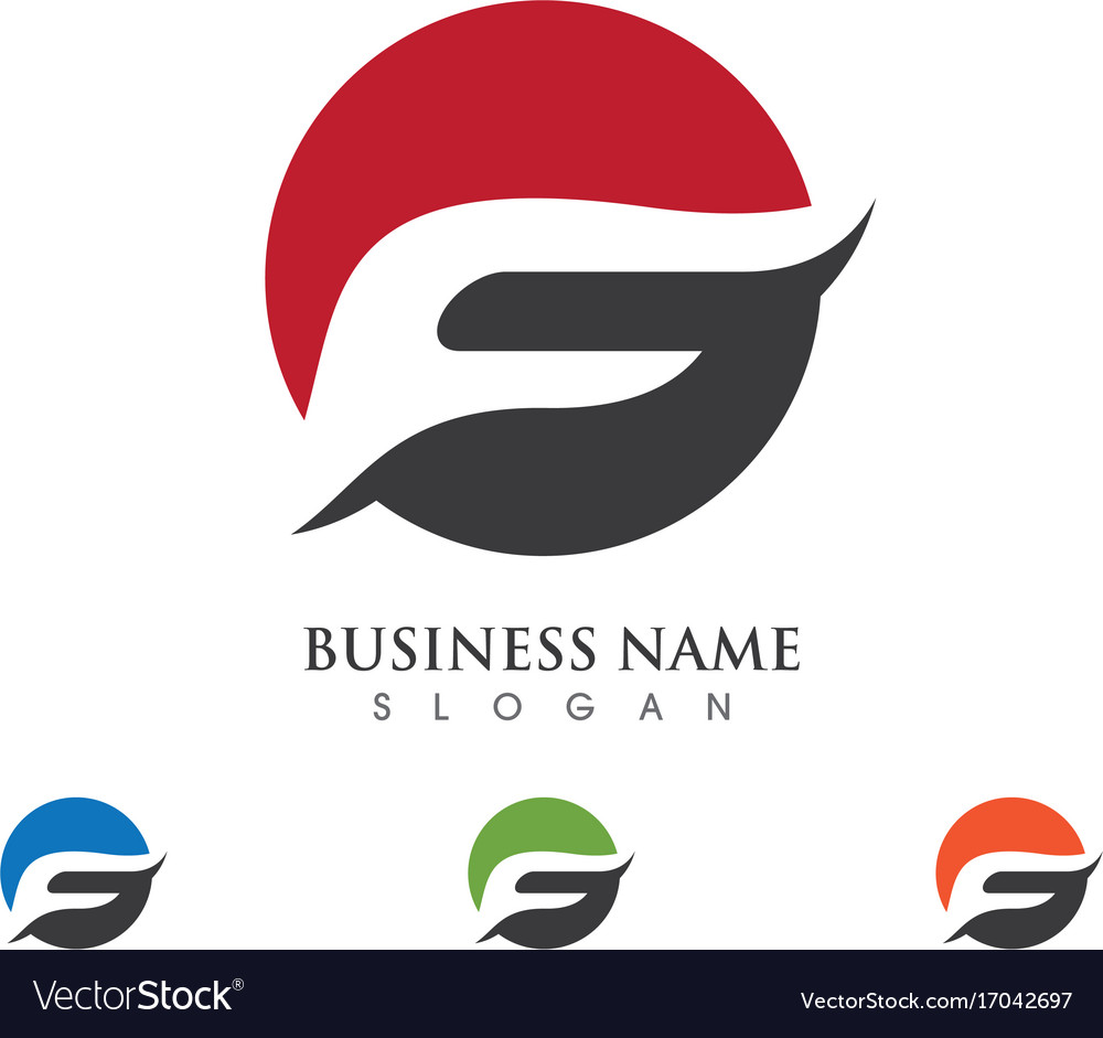 f letter logo template design royalty free vector image