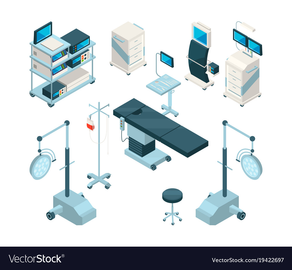 Isometric of medical equipment in