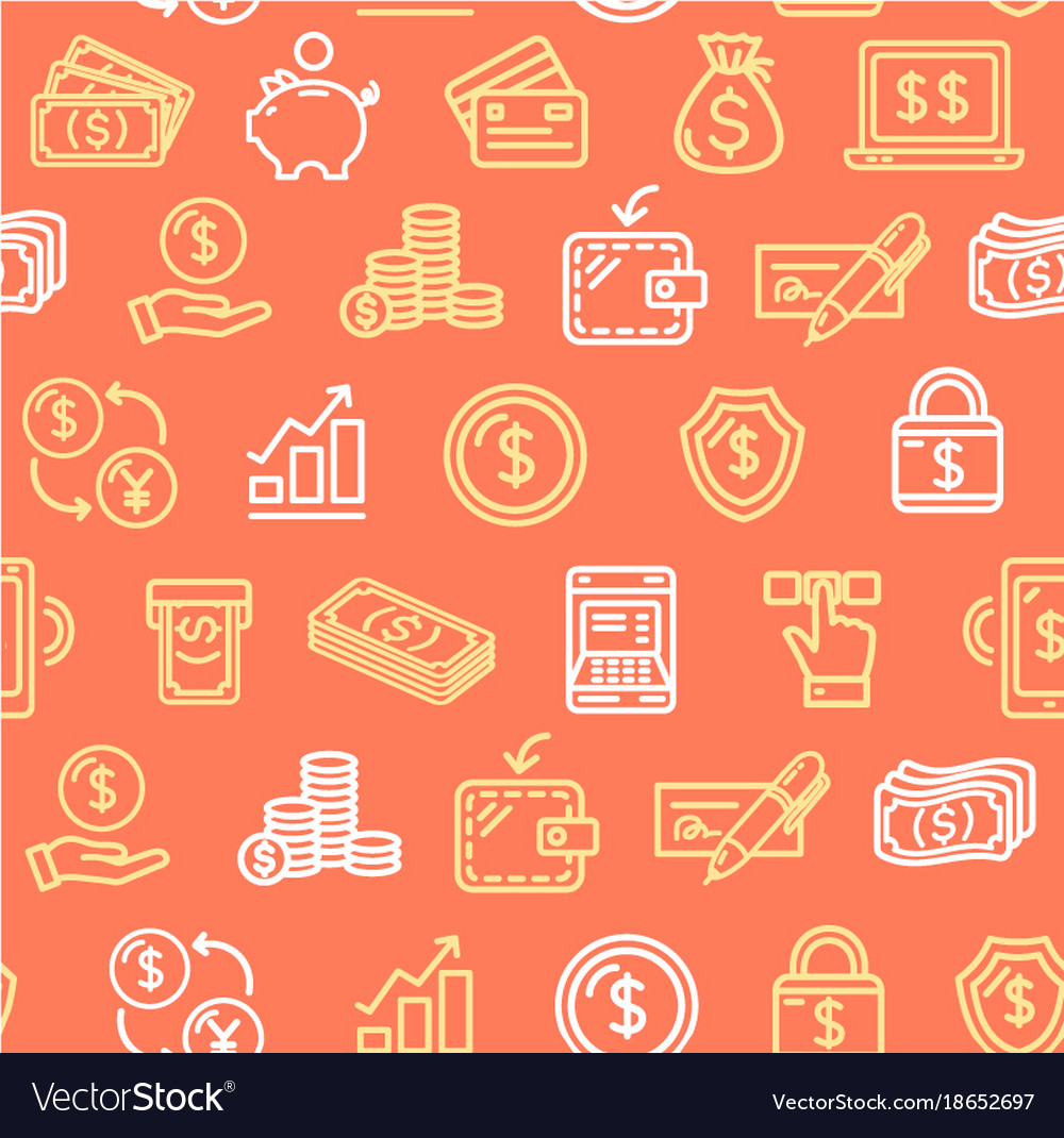 Money Finance Symbols And Signs Pattern Background