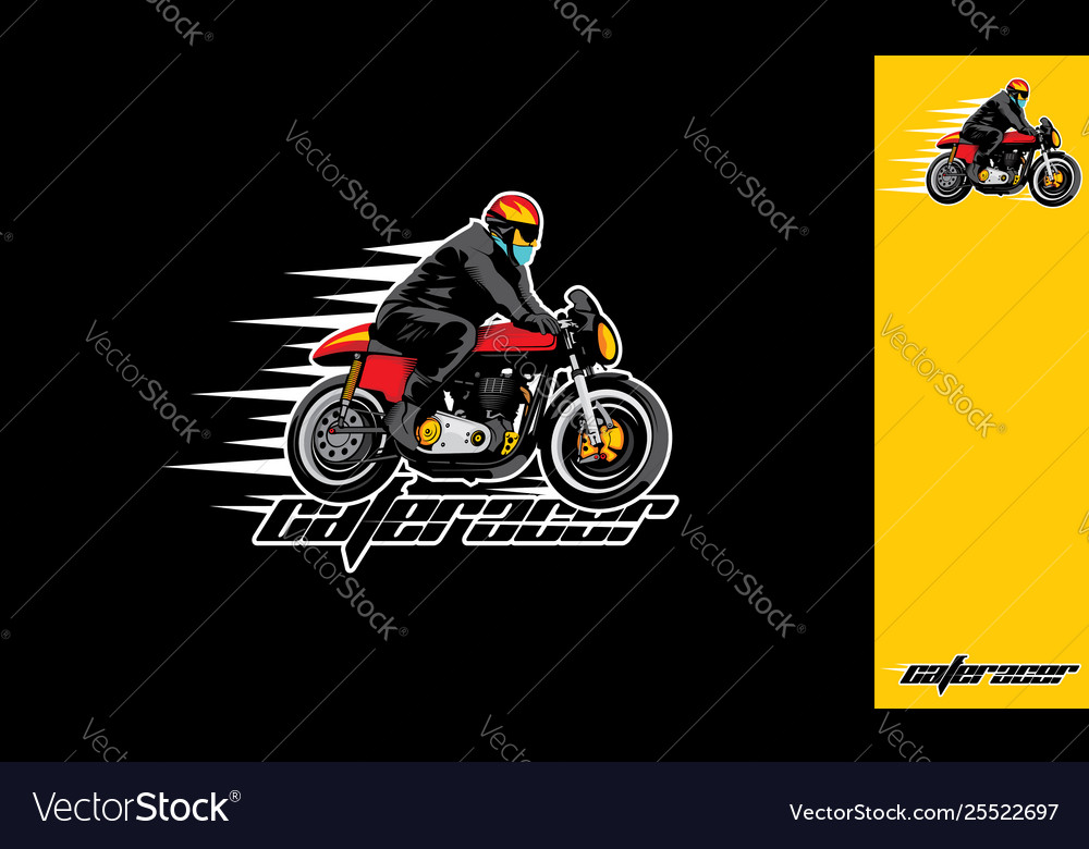 Motorcycle riders esport logo icon