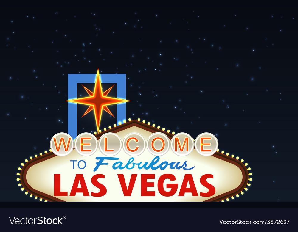 Night Las Vegas Sign vector image