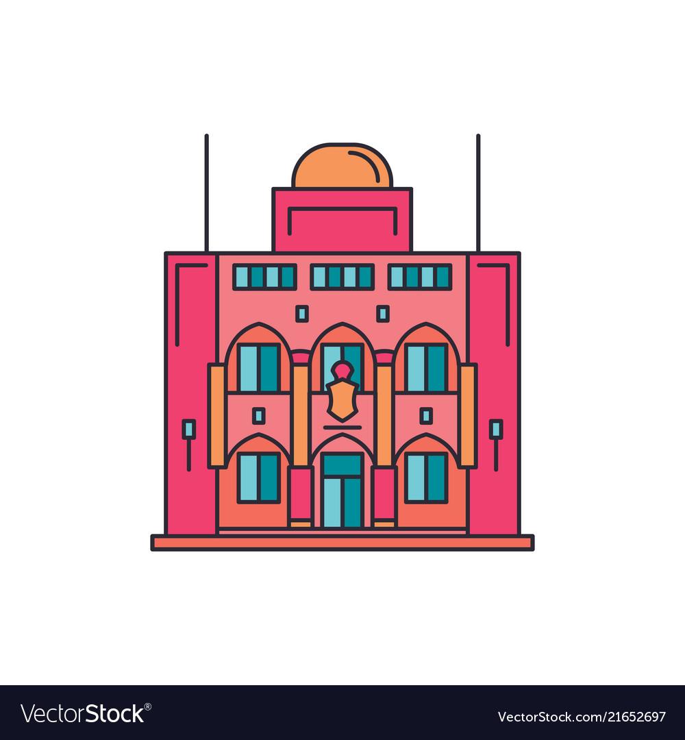 Presidential palace icon cartoon style