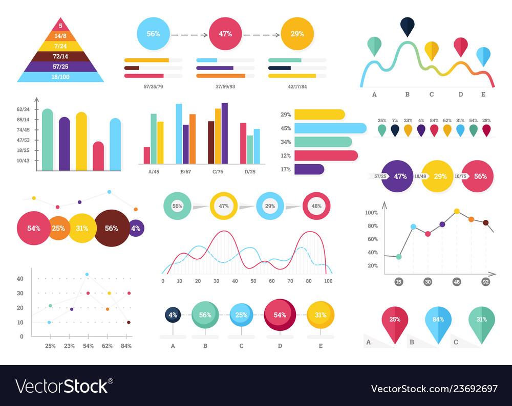 Set elements infographics info bars graphycs