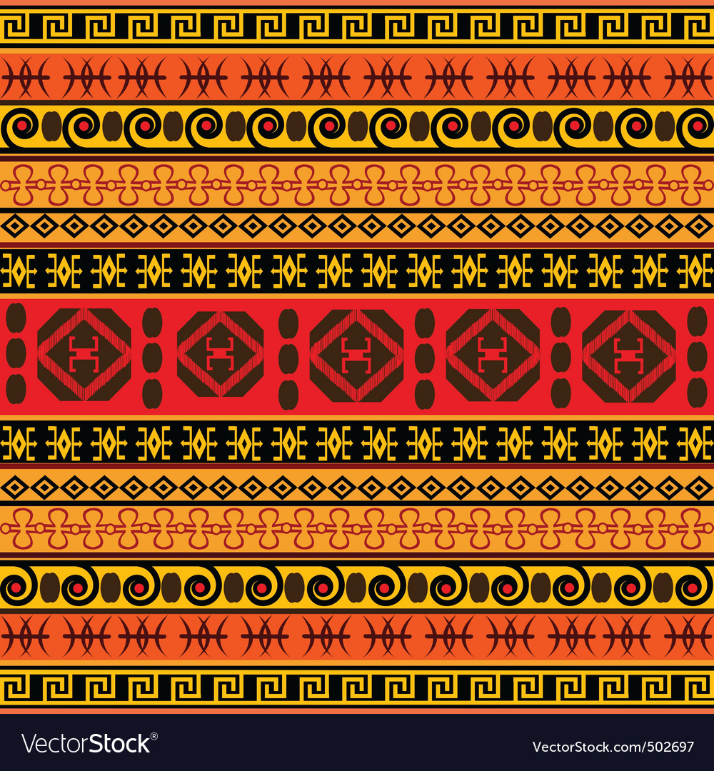 Traditional African pattern Royalty Free Vector Image Traditional African Patterns