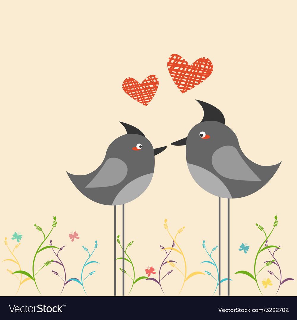 Birds in love vector image