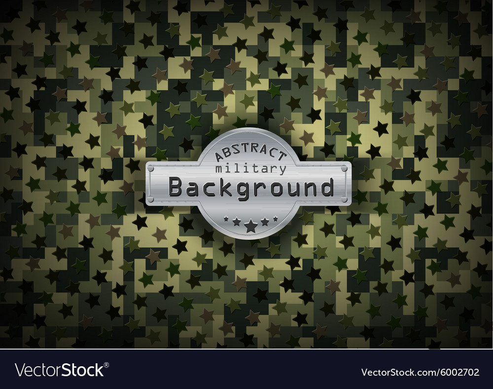 Camouflage military pixel art pattern with stars