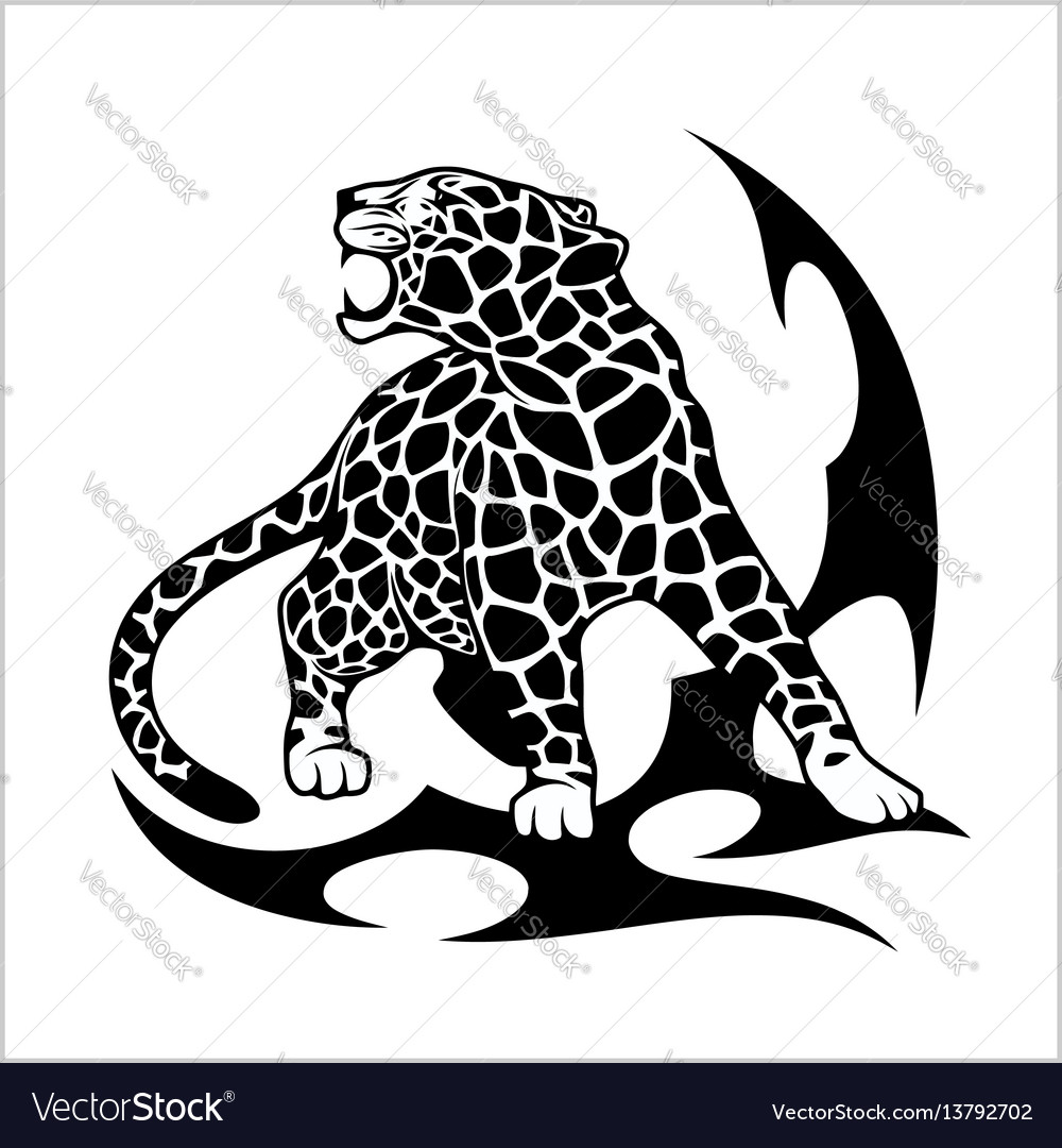 2998f1afd Jaguar flame tattoo Royalty Free Vector Image - VectorStock