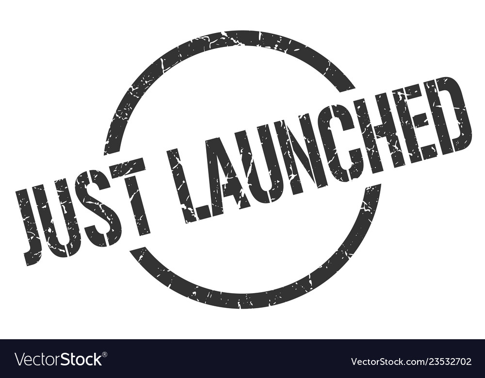 Just launched stamp vector image on VectorStock