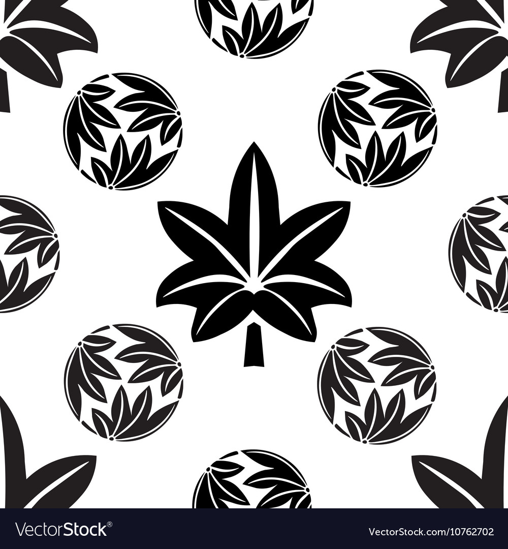 The stylized seamless maple leaves Japanese vector image