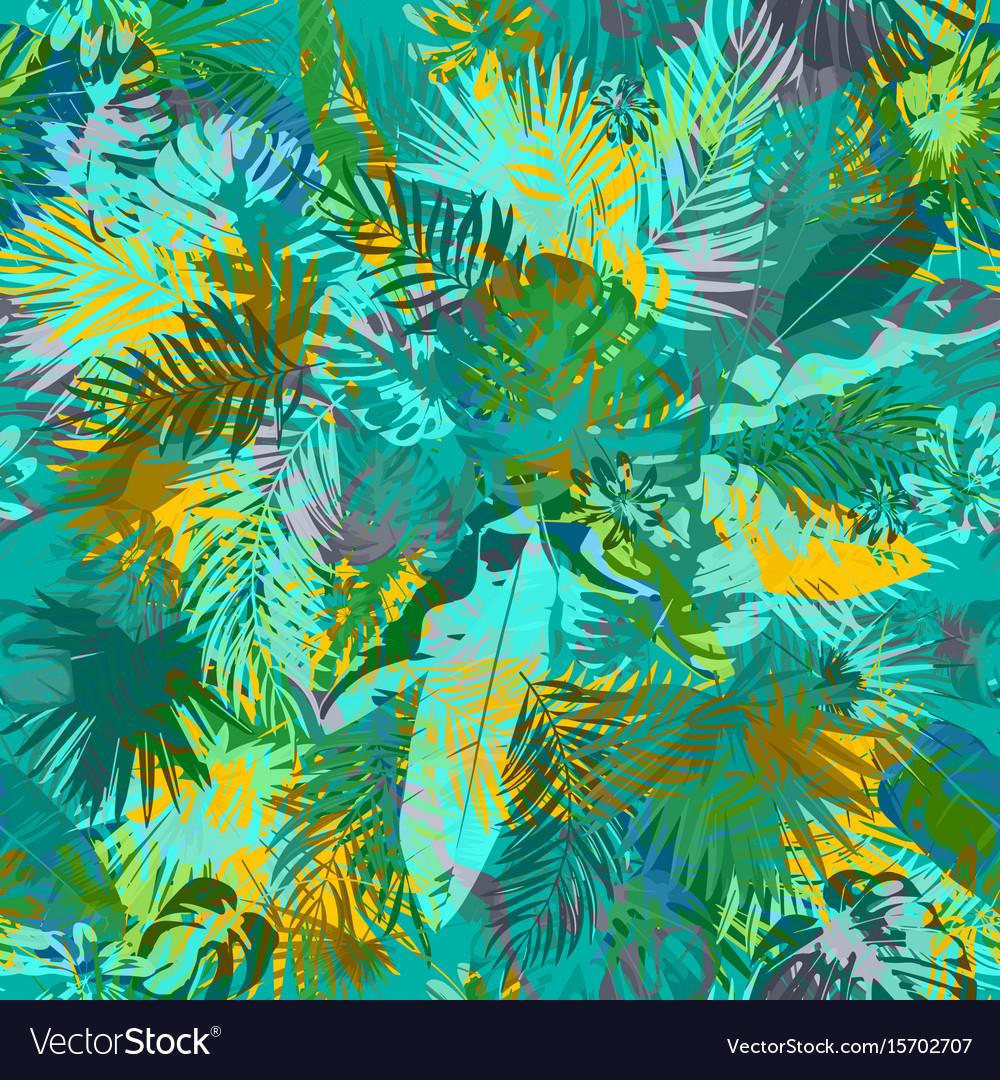 Artistic summer grunge seamless pattern