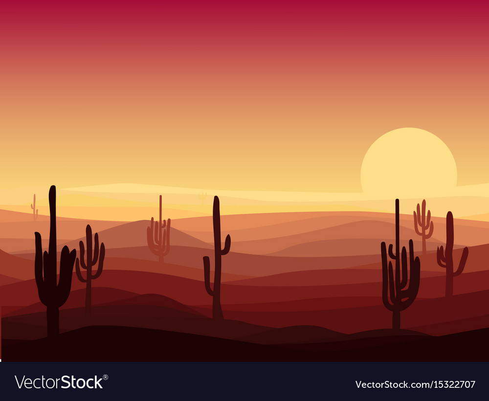Beautiful desert landscape template