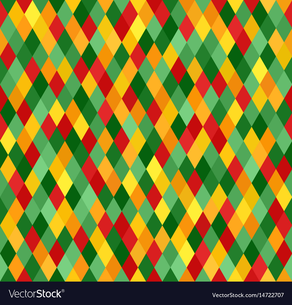 Diamond pattern seamless lozenge background vector image