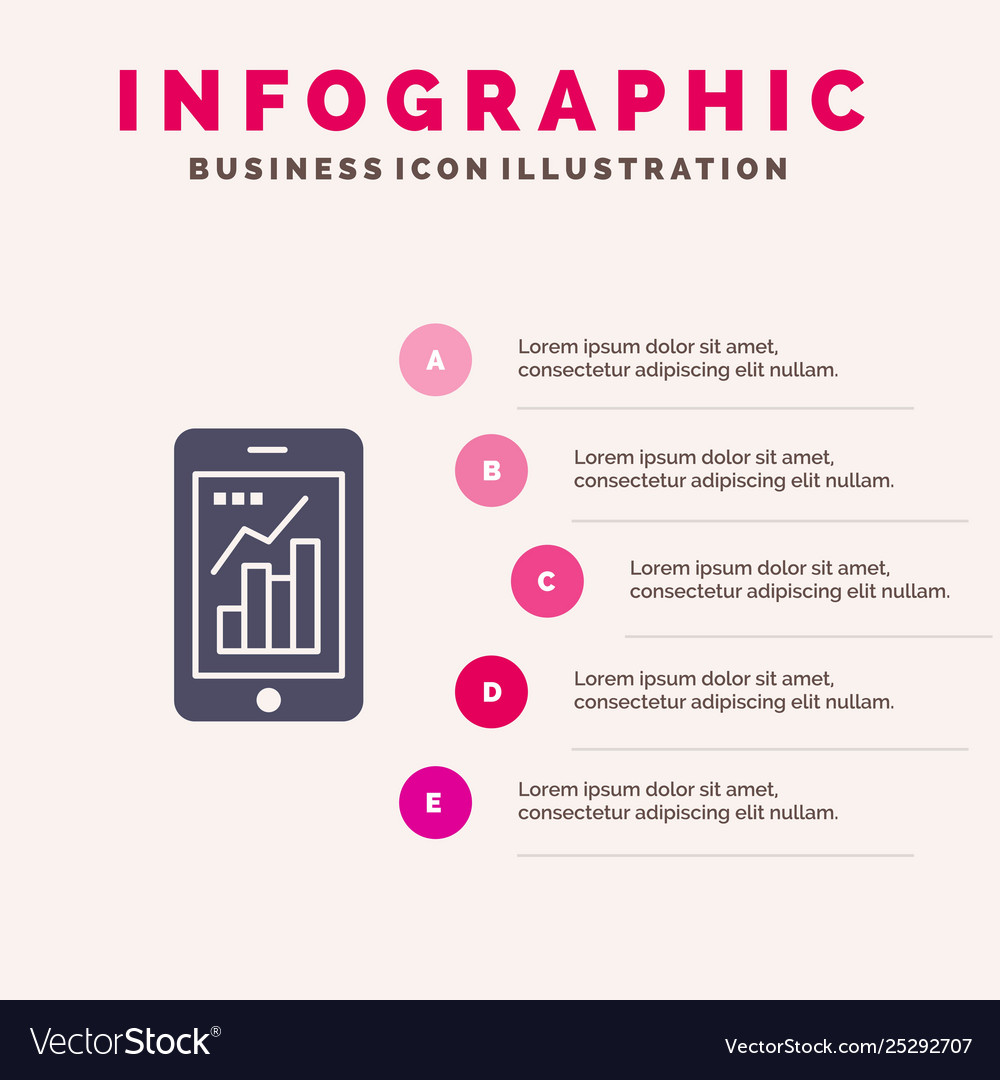 Graph analytics info graphic mobile mobile graph