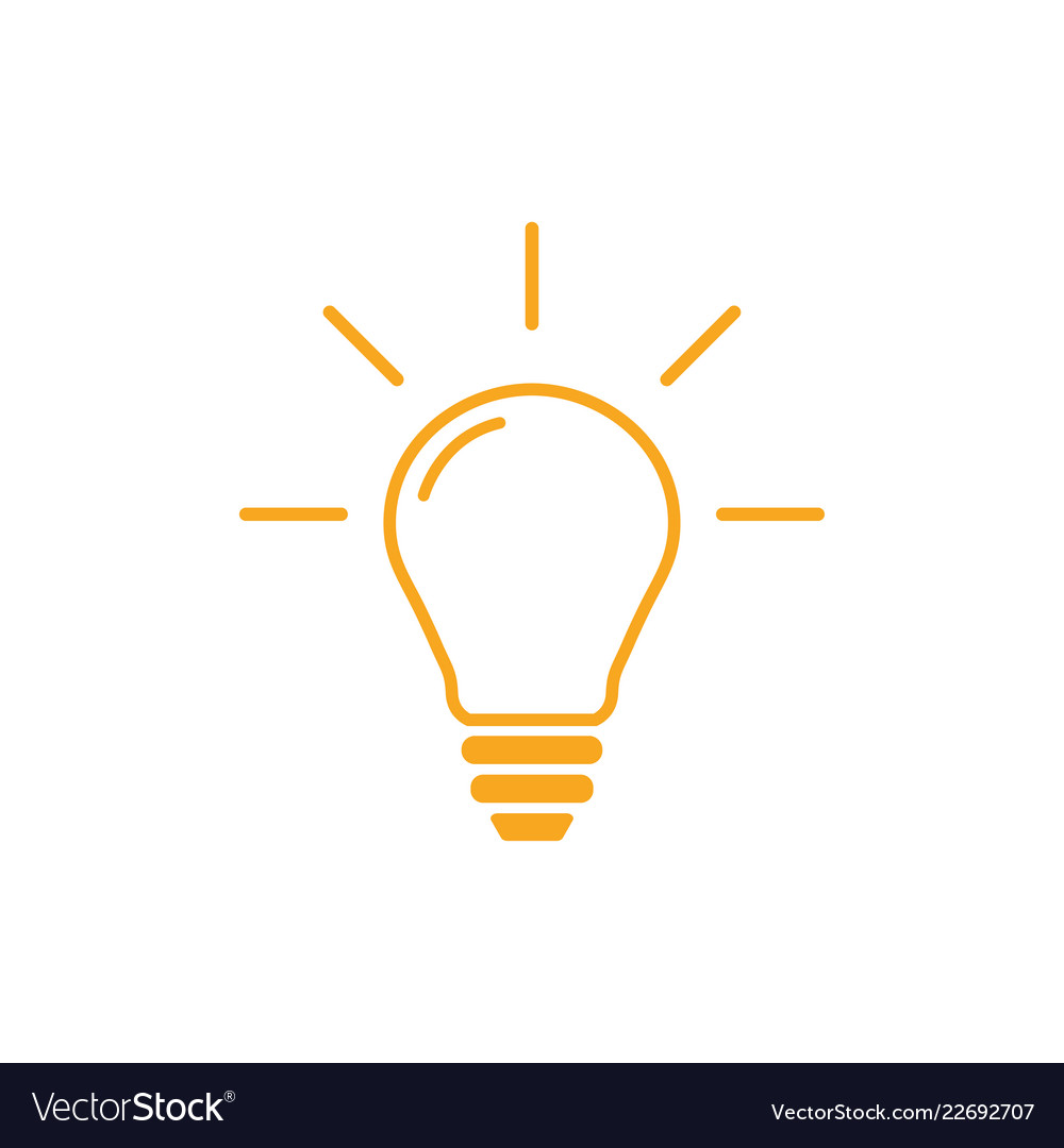 Lightbulb outline graphic design template