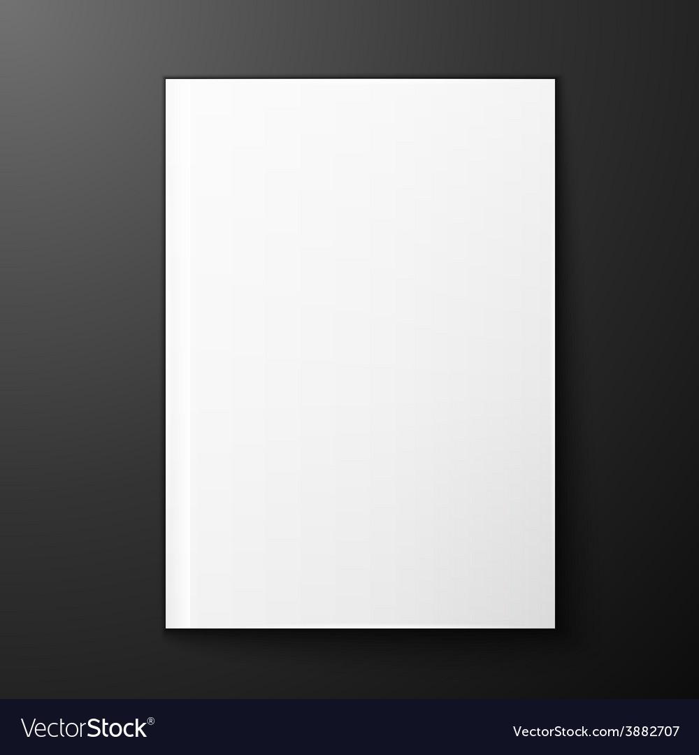 Magazine blank on black background vector image