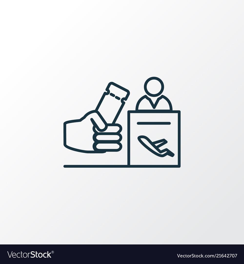 Registration board icon line symbol premium