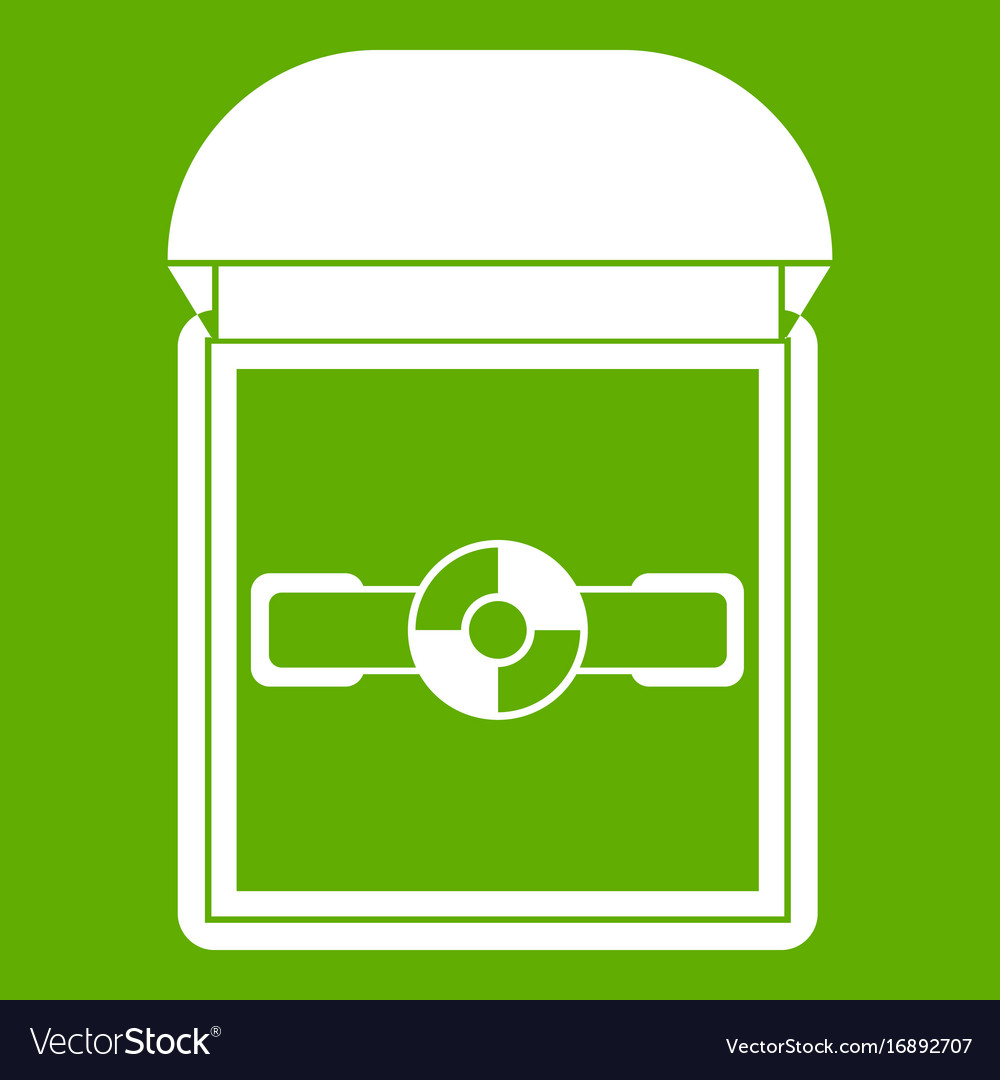 Ring in a velvet box icon green vector image