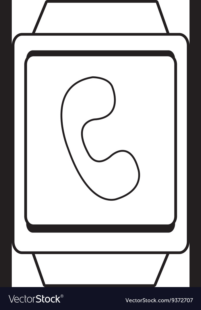 Square watch and phone icon graphic