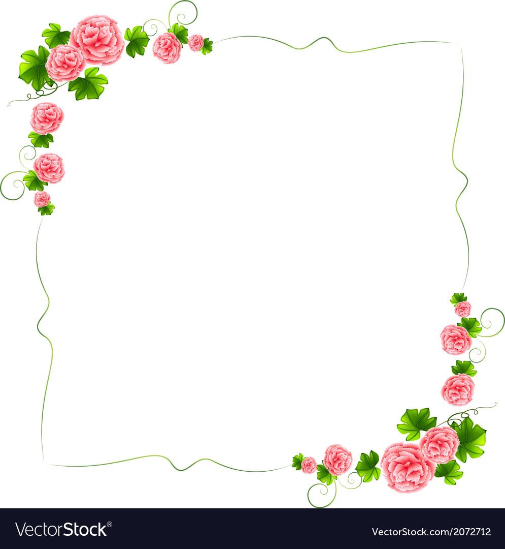 Floral Line Border Roses