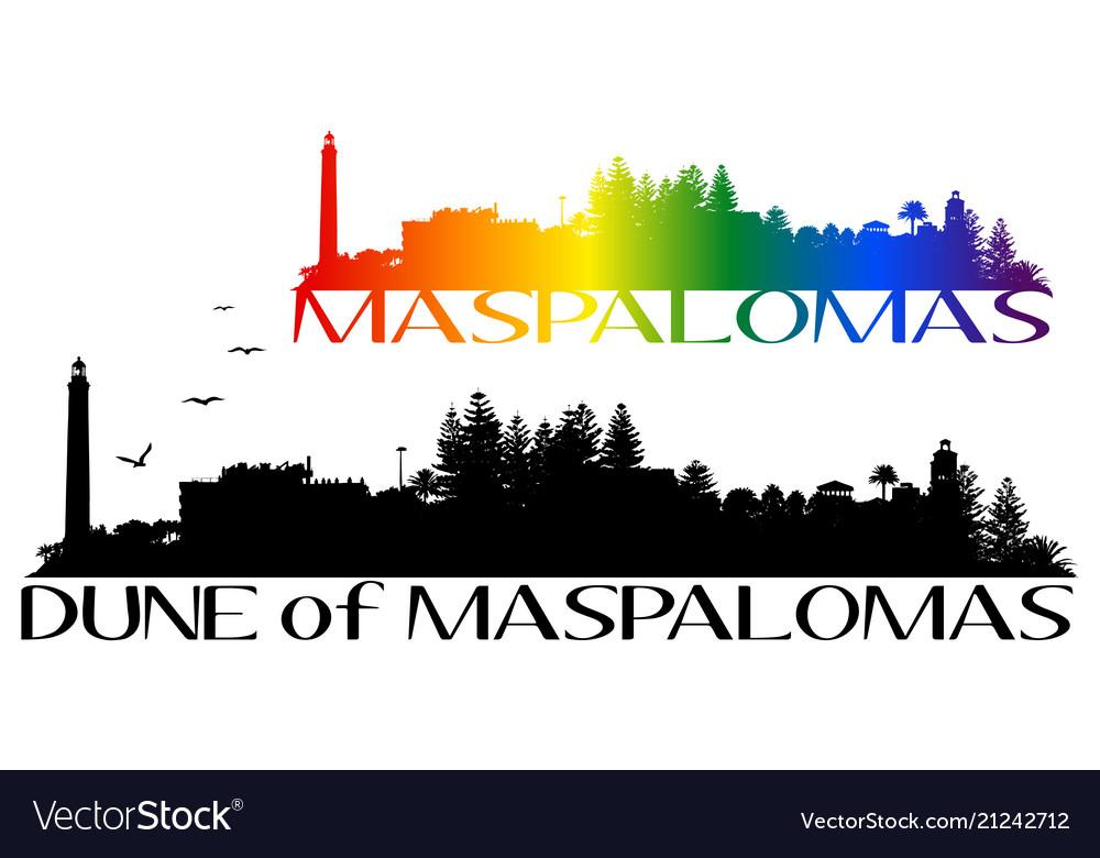 Beach and lighthouse of maspalomas