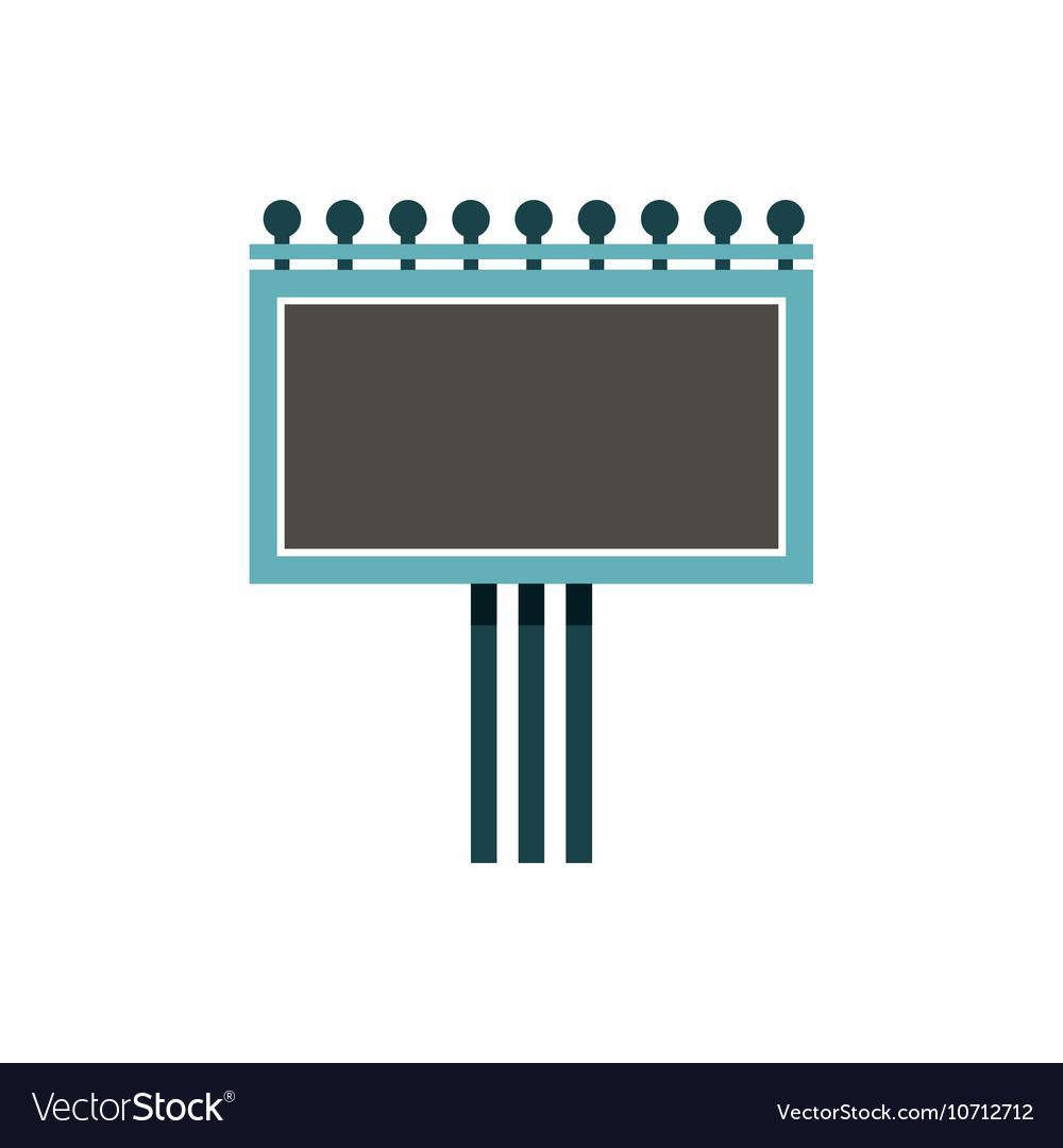Blank billboard icon flat style vector image