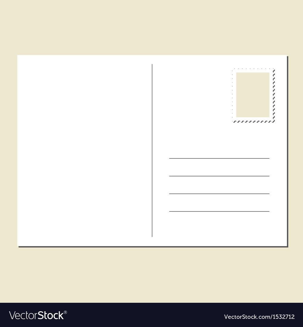blank postcard royalty free vector image vectorstock