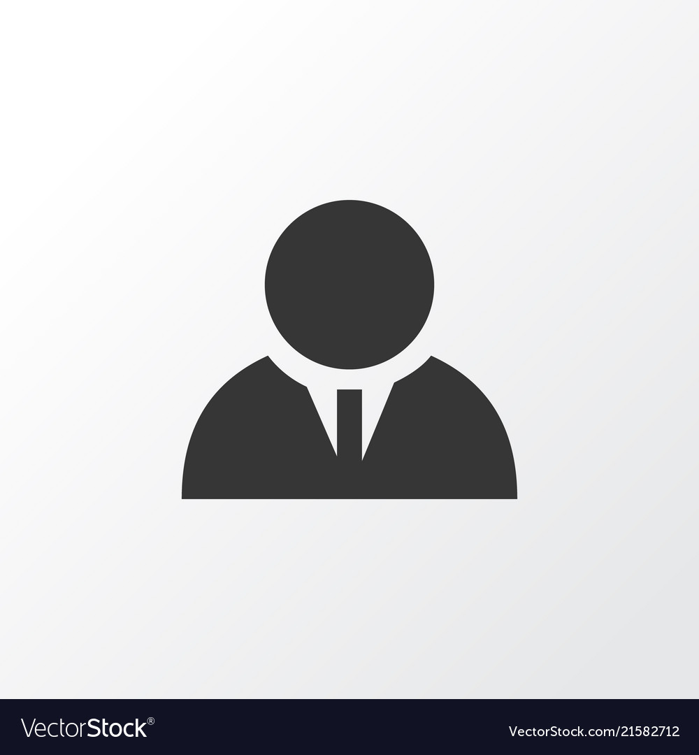 Businessman icon symbol premium quality isolated