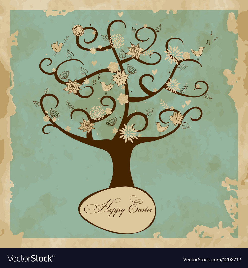 Card with Easter Tree