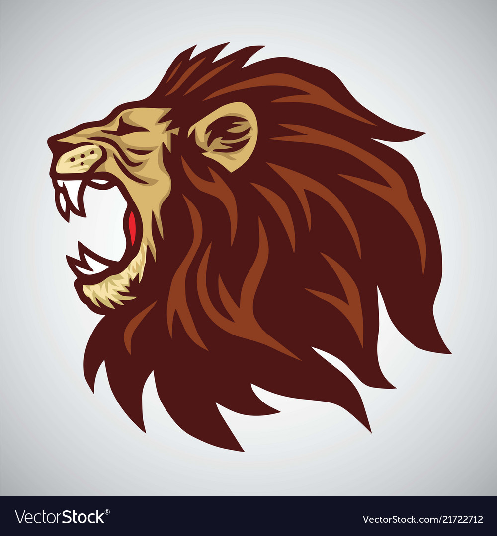 Lion Side Face Vector Images 54 Detroit's first playoff game in the super bowl era came. vectorstock