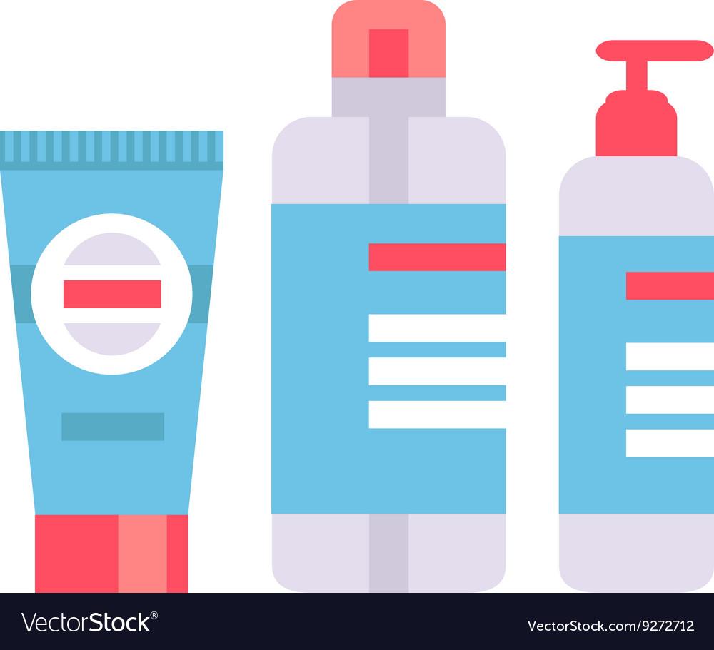 Packaging tubes vector image