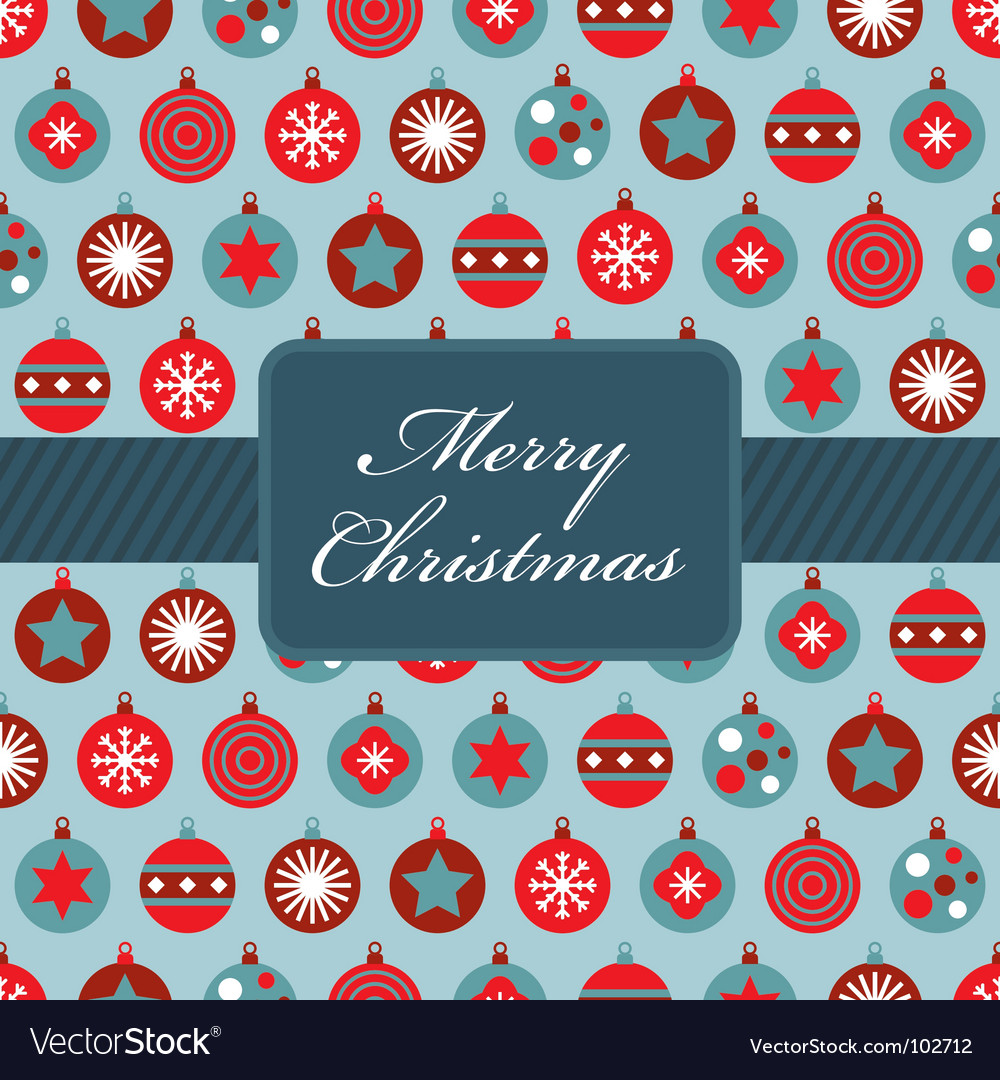 Red and blue Christmas wrapping vector image