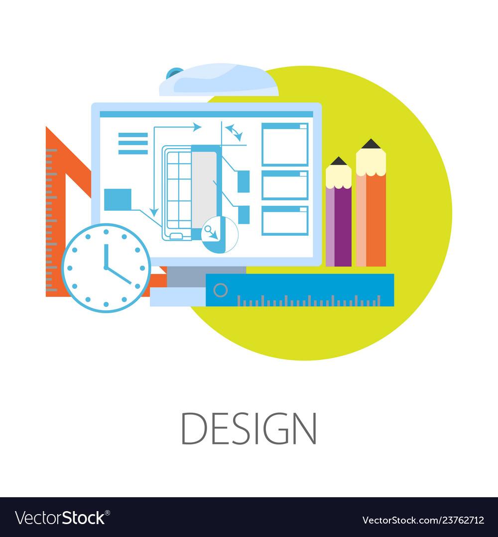 Smartphone design process in computer program