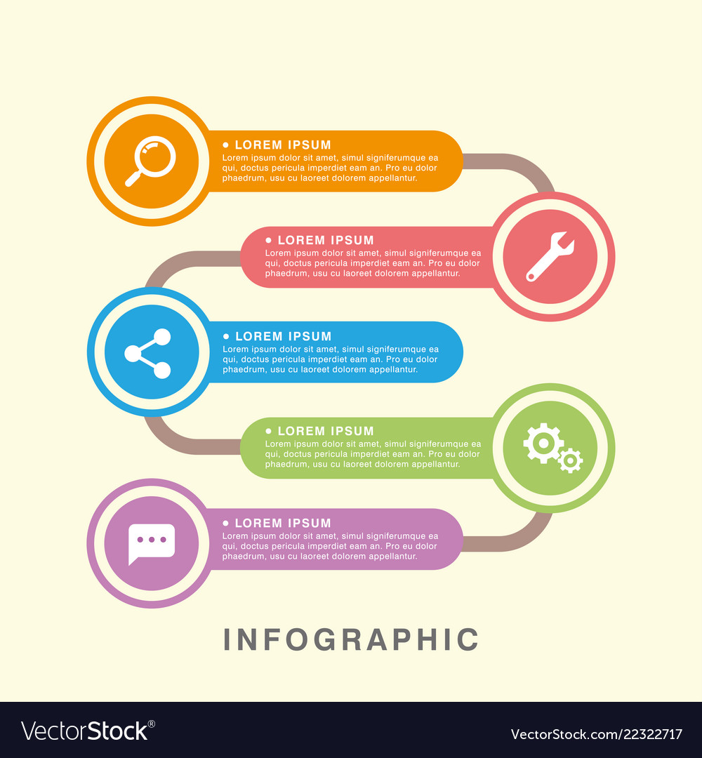 Business infographic data graph