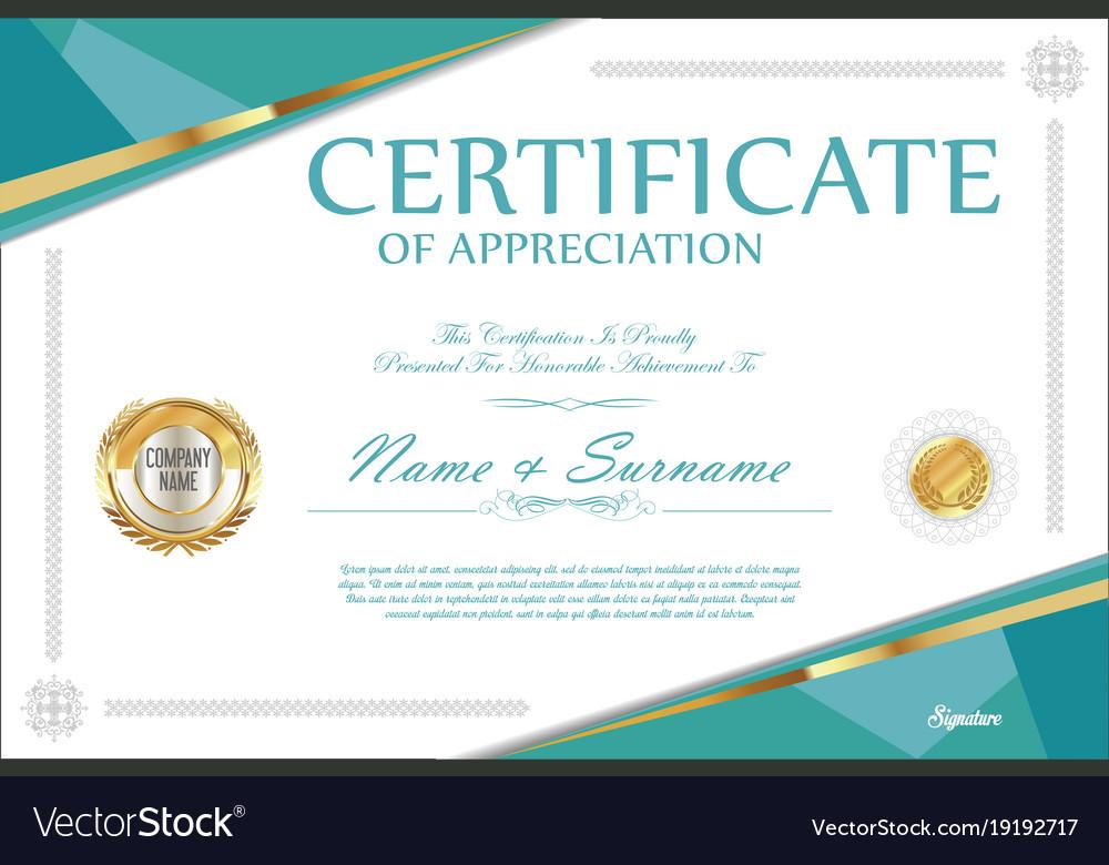 Certificate Retro Design Template 5 Royalty Free Vector