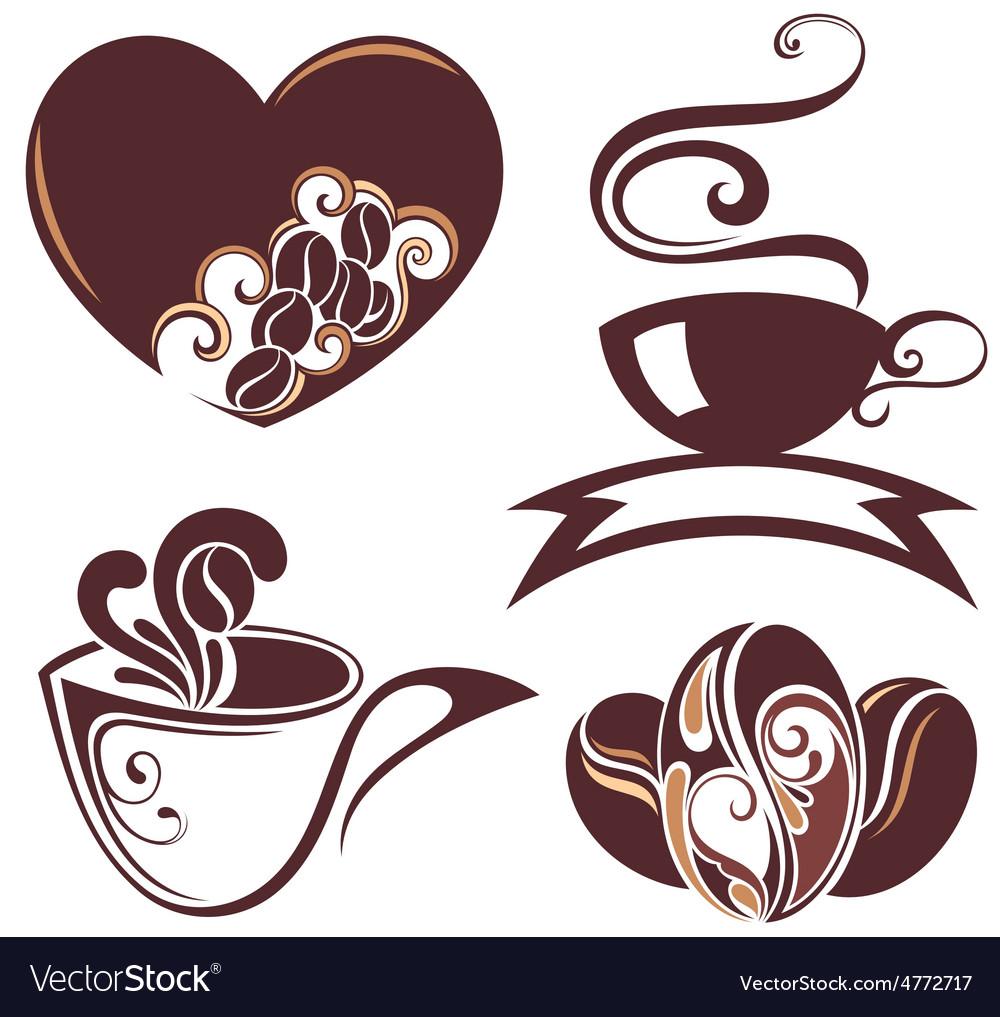 Coffee design symbols