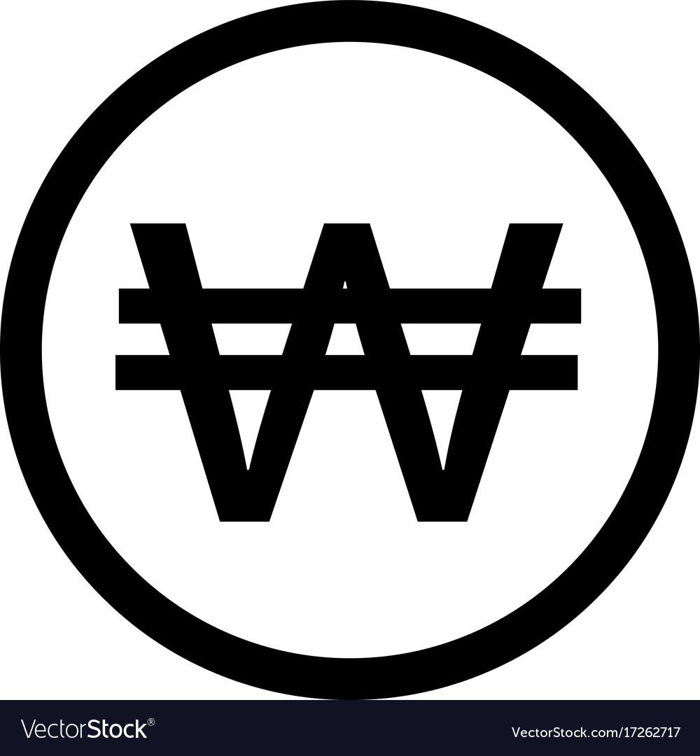 Korean Won Symbol